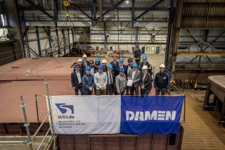 The keel-laying ceremony for the diving bell vessel ordered by FMSW Koblenz