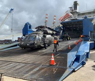ARC Loads Army Aviation Unit in The Netherlands for Operation Atlantic Resolve