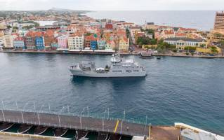 HNLMS Pelikaan back in Curaçao after midlife upgrade by Damen Shipyards Den Helder