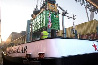 Wärtsilä swappable battery containers enabling inland waterway vessels to operate with zero emissions