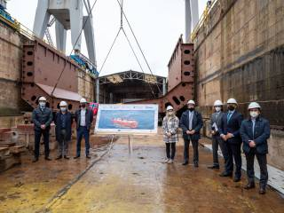 Work progresses on the first LNG supply vessel built in Spain