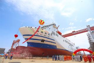 Asia Largest Multipurpose Ro-Ro Ship built by CIMC Raffles launched