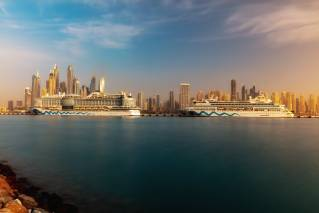 AIDA ships dock for the first time at the new Dubai Cruise Terminal