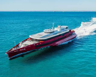 Austal Australia Delivers 83 Metre Trimaran Ferry To JR Kyushu Jet Ferry