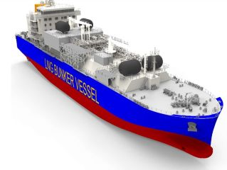 Clean Marine Fuels: Total and Mitsui O.S.K. Lines Charter the 1st LNG Bunker Vessel to Operate in France
