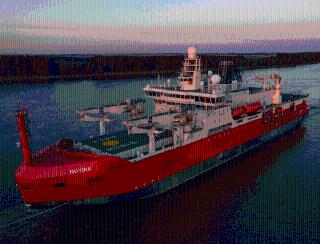 Giant Australian Icebreaker Heads to Vlissingen for Sea Trials