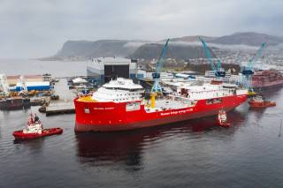 Spotted: Nexans Aurora launched at Ulstein Verft
