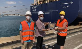The container ship DJANET makes its first call at the Port of València