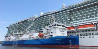 Gasum's subsidiary Nauticor conducts first ship-to-ship LNG bunkering operation for the newbuild cruise ship Iona