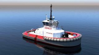 Crowley Completes First U.S. Design for Fully Electric Tug (Video)