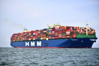 HMM Rotterdam arrived in Rotterdam on its maiden voyage