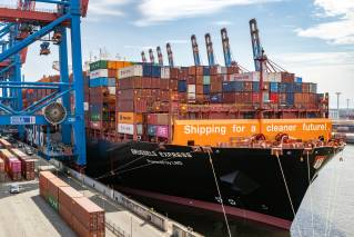 World's first large container ship converted to LNG to arrive in Hamburg