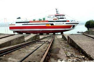 Damen Yichang Shipyard launches a RoPax Ferry 6716