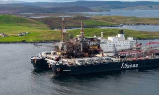 Ninian Northern Topside Arrives At Lerwick For Decommissioning (Video)