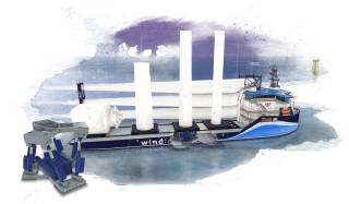 Ampelmann and C-Job Naval Architects join forces to develop a one-of-a-kind offshore wind feeder vessel concept