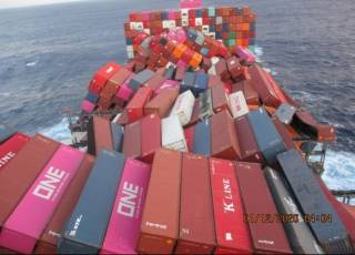 1,900 Containers Lost Or Damaged On ONE Boxship