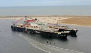 Watch: World's Biggest Vessel Receives First Drone Delivery