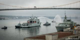 Royal Canadian Navy's First Arctic and Offshore Patrol Ship (AOPS), HMCS Harry DeWolf - Powered by GE