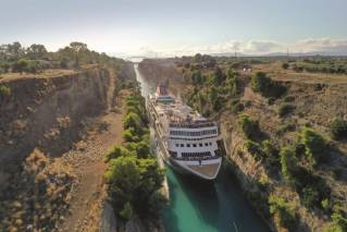Braemar to repeat record-breaking voyage of Corinth Canal in 2022 with new cruise unveiled by Fred. Olsen Cruise Lines (Video)