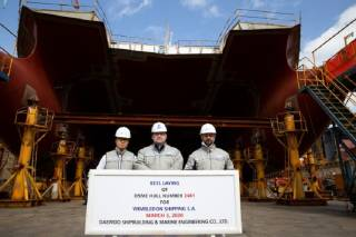 Minerva lays keel for its first LNG newbuild
