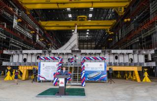 Zvezda Shipyard lays down fifth Aframax tanker, Nursultan Nazarbayev