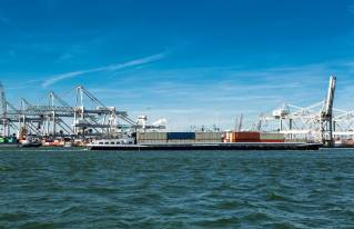Barge Transferium Maasvlakte Launched in the Port of Rotterdam