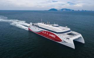 Austal Vietnam Delivers 94 metre catamaran ferry to NIDCO of Trinidad and Tobago