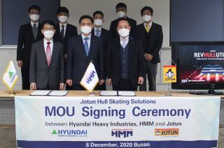 Jotun, HHI and HMM join forces to unlock green benefits with proactive hull cleaning