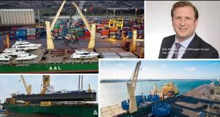 AAL Kembla transported yachts, cranes, transformers, dregers, baskets & more on a single shipment from Europe to Asia
