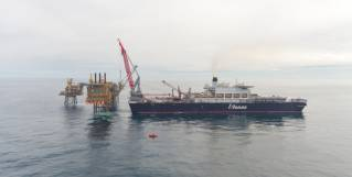 Spotted: Pioneering Spirit swoops in with Buzzard module