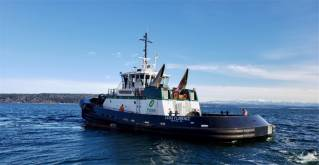 Nichols Brothers Boat Builders launched fourth ASD90 tug for Foss Maritime