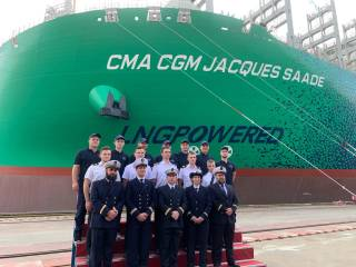 The CMA CGM JACQUES SAADE joins the fleet: The first 23,000 TEU container vessel in the world to be powered by LNG