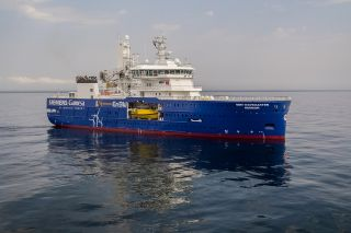 Second of Damen's innovative wind farm maintenance SOV 9020 class is delivered to Bibby Marine Services