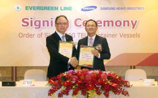 Samsung Heavy Industries secures orders for six world`s largest containerships