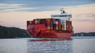 The last container ship left Frihamnen port in Stockholm