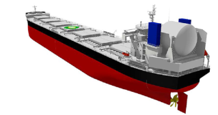 """ClassNK grants AiP to TSUNEISHI SHIPBUILDING for concept design of LNG-fueled bulker """"KAMSARMAX GF"""""""