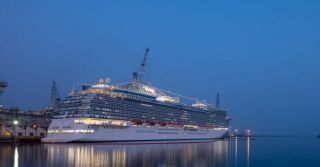Sky Princess - the fourth Royal Princess class ship built by Fincantieri for Princess Cruises, delivered in Monfalcone