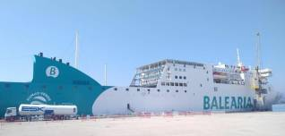 Balearia's ferry in first LNG bunkering