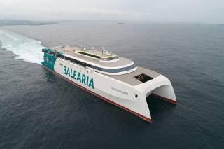 European Built Incat Crowther 123 Metre Dual-Fuel Fast Ro-Pax Ferry Success