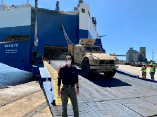 ARC Discharges Military Equipment at the Transportation Core Dock