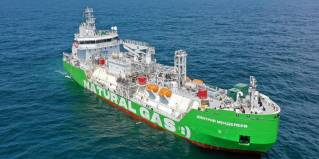 TGE Marine announces the successful gas trail of another LNG bunker vessel