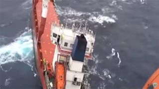 Video: Hellenic Air Force Rescues 14 Crew Members Of Leo Cargo Ship