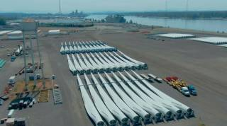 Port of Vancouver USA Receives Longest Wind Blades Ever To Enter The West Coast of US (Video)