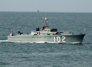 Photo of MTB102 ship