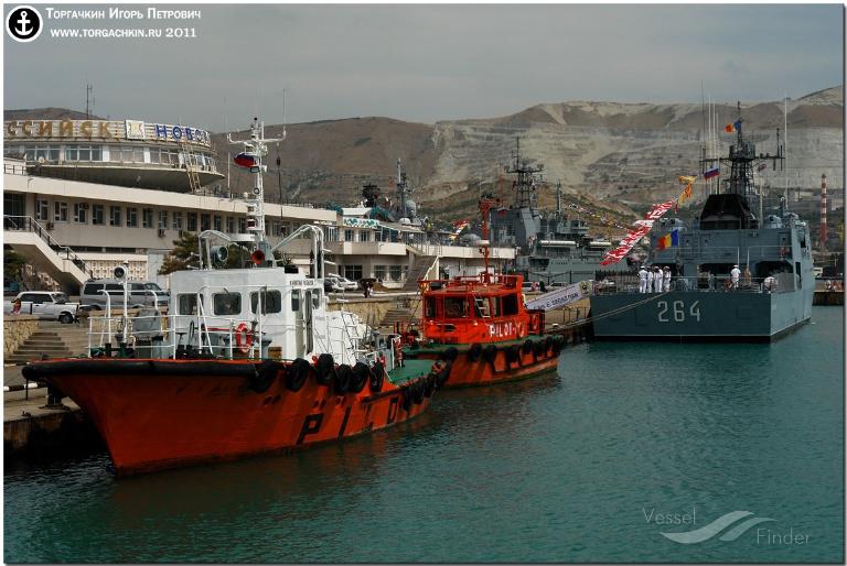 KAPITAN RYBAKOV (MMSI: 273431060) ; Place: Port Novorossiysk, Russia.