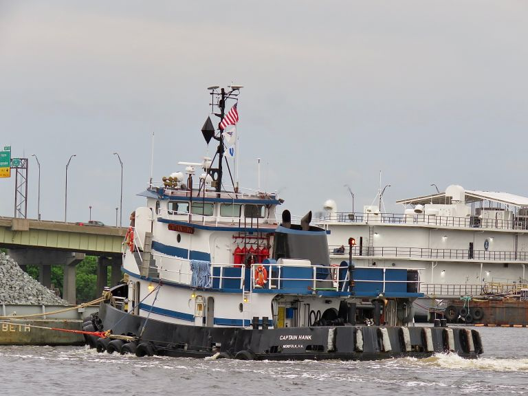 CAPTAIN HANK, Tug - Details and current position - MMSI