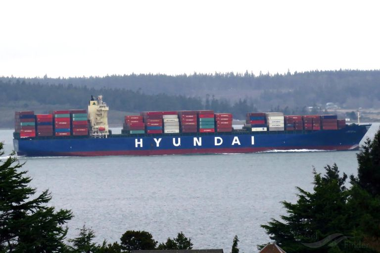 Hyundai New York Container Ship Details And Current