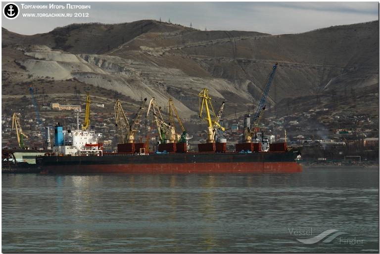 BILOXI BELLE (MMSI: 548715000) ; Place: Port Novorossiysk, Russia.