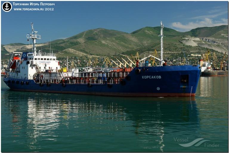 KORSAKOV (MMSI: 273353940) ; Place: Port Novorossiysk, Russia.