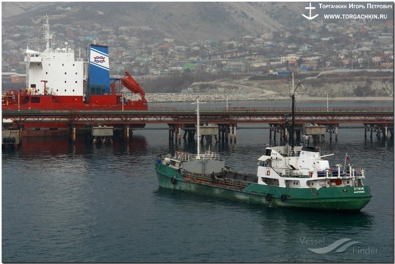 OTTILIYA (MMSI: 273443890) ; Place: Oil Terminal SHESKHARIS, port Novorossiysk, Russia.